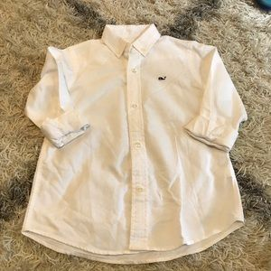 NWOT Vineyard Vines boys button up white shirt 4t